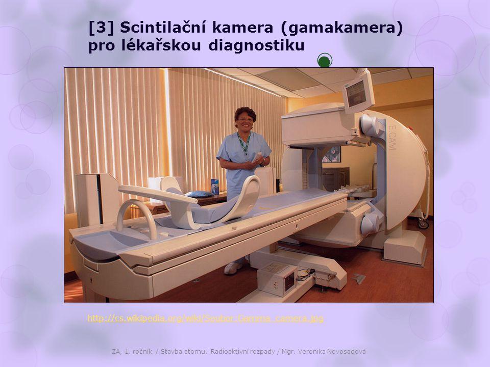 [3] Scintilační kamera (gamakamera) pro lékařskou diagnostiku